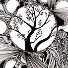 Spring Splendor, Ink Drawing by Danielle Scott