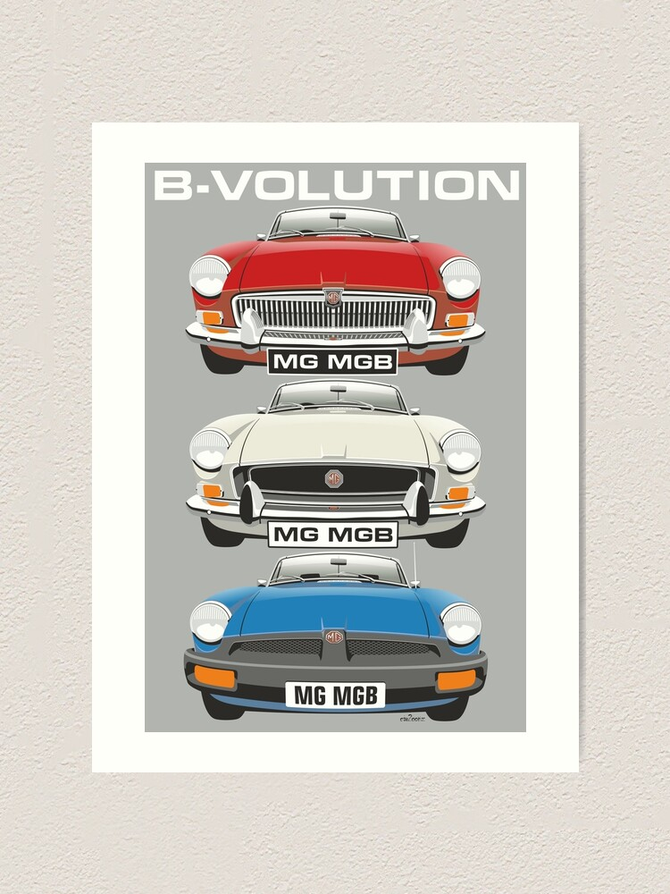 CHOOSE YOUR CAR COLOUR MGB GT CAR ART MUG ADD YOUR REG PLATE!