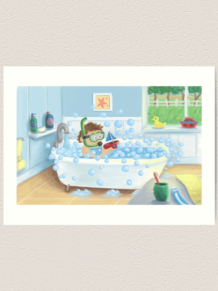 Bubble Bath Art Print By Joshbaum Redbubble