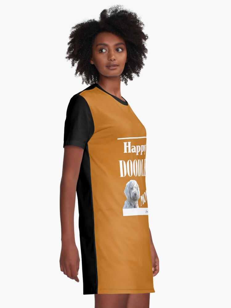 Alternate view of Happy Doodle Mom Graphic T-Shirt Dress