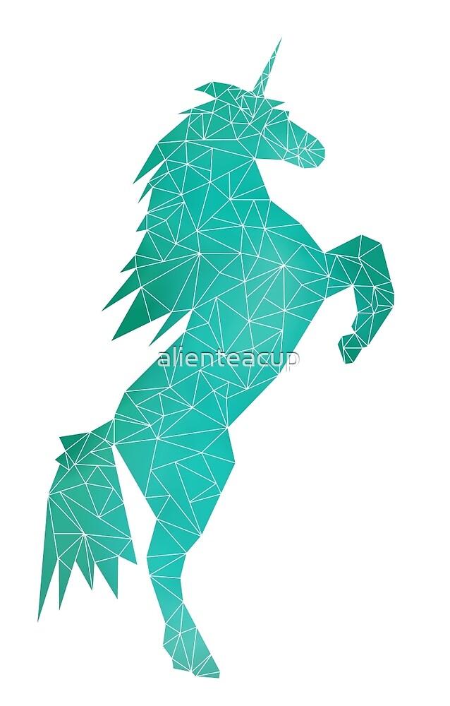 """Geometric Unicorn - Teal 02"" by alienteacup | Redbubble"