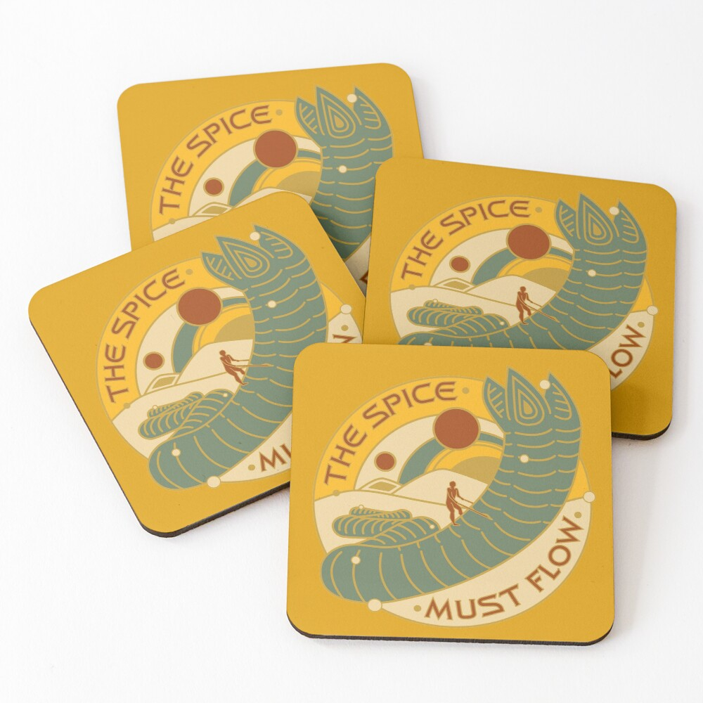 The Spice Must Flow Coasters (Set of 4)