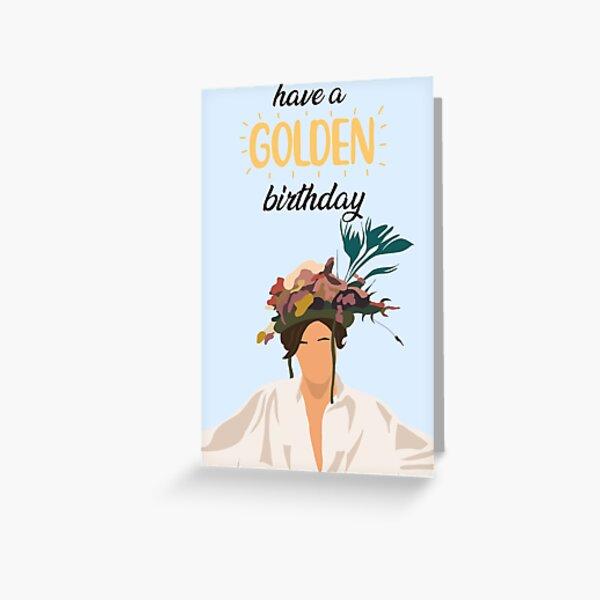 Harry Styles Golden Birthday Card Greeting Card