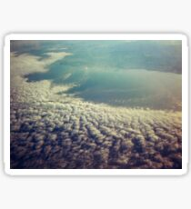 Clouds from plane Sticker