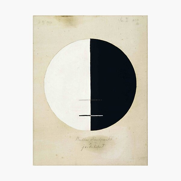 Hilma af Klint - 1920 - Buddhas Standpoint in the Earthly Life - No 3a Photographic Print