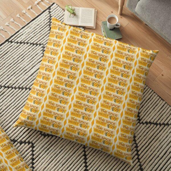 The Spice Must Flow. Horizontal Design. Floor Pillow