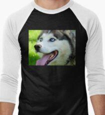 Micky Blue Eyes -Siberian Husky Dog - NZ T-Shirt