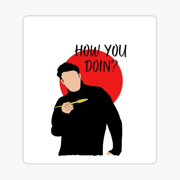 Digital Art portrait Joey Tribianni Sticker