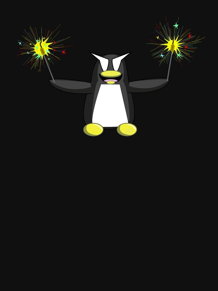 Sparkler Penguin by CaptainCharlesW