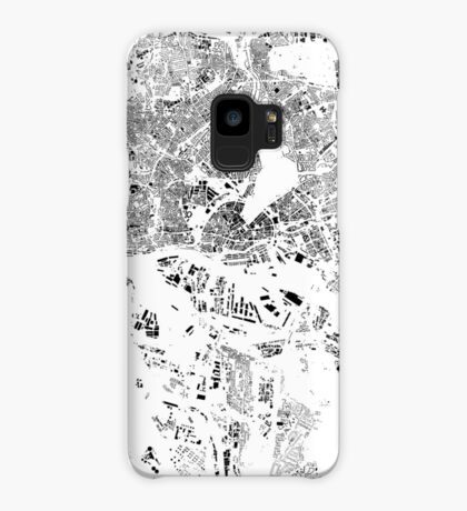 Hamburg Map Schwarzplan Only Buildings Urban Plan Case/Skin for Samsung Galaxy