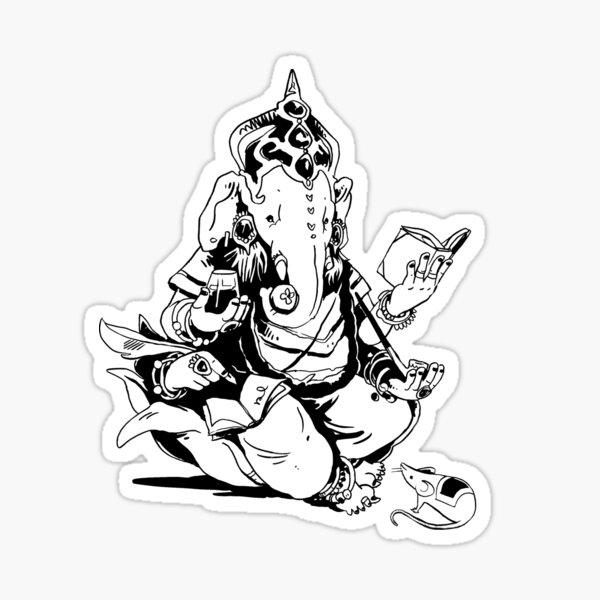 Nerdy Ganesha Sticker