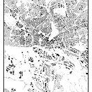 Hamburg Karte Schwarzplan Nur Gebäude Stadtplan von HubertRoguski