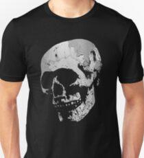 Skull - Cool Grunge Texture Skull Unisex T-Shirt