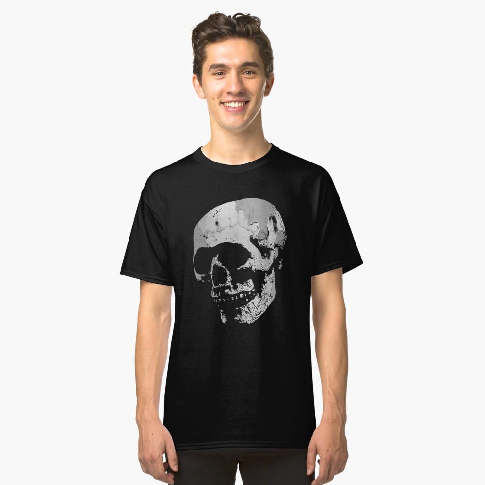 Skull - Cool Grunge Texture Skull Classic T-Shirt Front