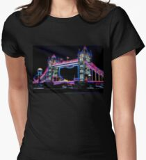 Electric Tower Bridge London Women's Fitted T-Shirt