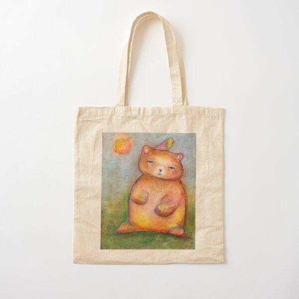 Bear with a Bird Cotton Tote Bag