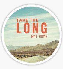 Take the Long Way Sticker