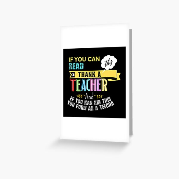 teacher of all things Greeting Card