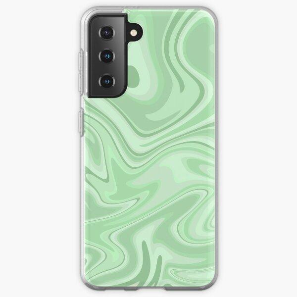 Sage Green Groovy Y2k Pattern Samsung Galaxy Soft Case