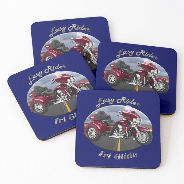 Harley Davidson Tri Glide Easy Rider Coasters (Set of 4)