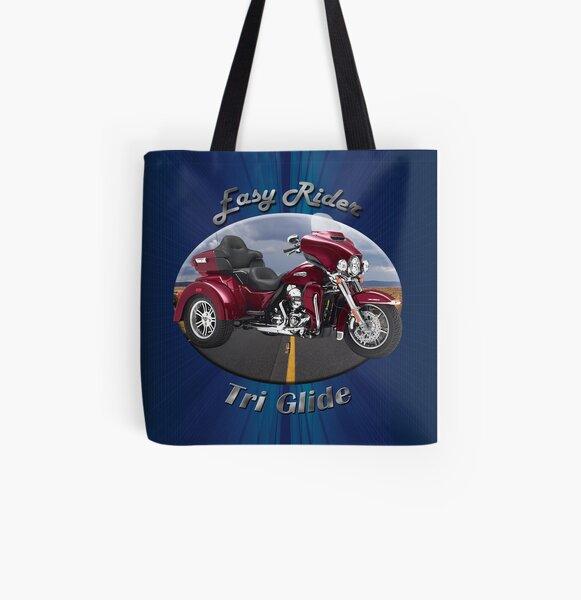 Harley Davidson Tri Glide Easy Rider All Over Print Tote Bag