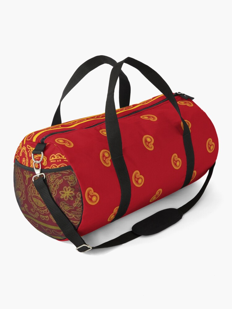 Alternate view of Red and Gold Bandana Duffle Bag