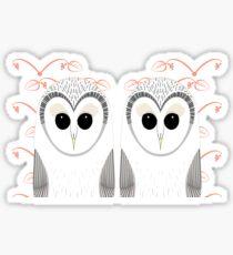 TWIN OWLS PORTRAIT Sticker