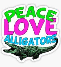 Peace Love Alligators Sticker
