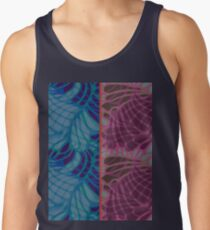 Blue and Purple Abstract Print Duvet Cover Tank Top
