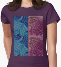 Blue and Purple Abstract Women's Fitted T-Shirt