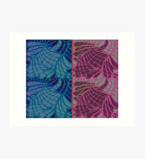 Blue and Purple Abstract Print Duvet Cover Art Print