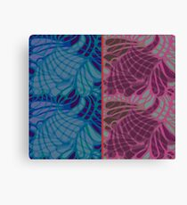 Blue and Purple Abstract Print Duvet Cover Canvas Print