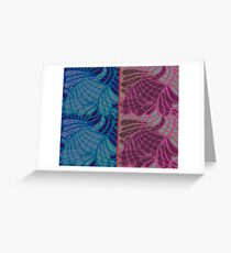 Blue and Purple Abstract Print Duvet Cover Greeting Card