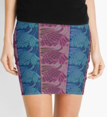 Blue and Purple Abstract Print Duvet Cover Mini Skirt