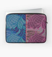 Blue and Purple Abstract Print Duvet Cover Laptop Sleeve