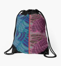 Blue and Purple Abstract Print Duvet Cover Drawstring Bag