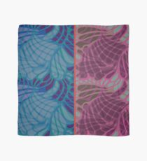 Blue and Purple Abstract Print Duvet Cover Scarf