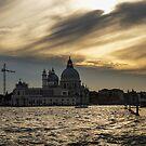 Watercolor Sky Over Venice by Georgia Mizuleva