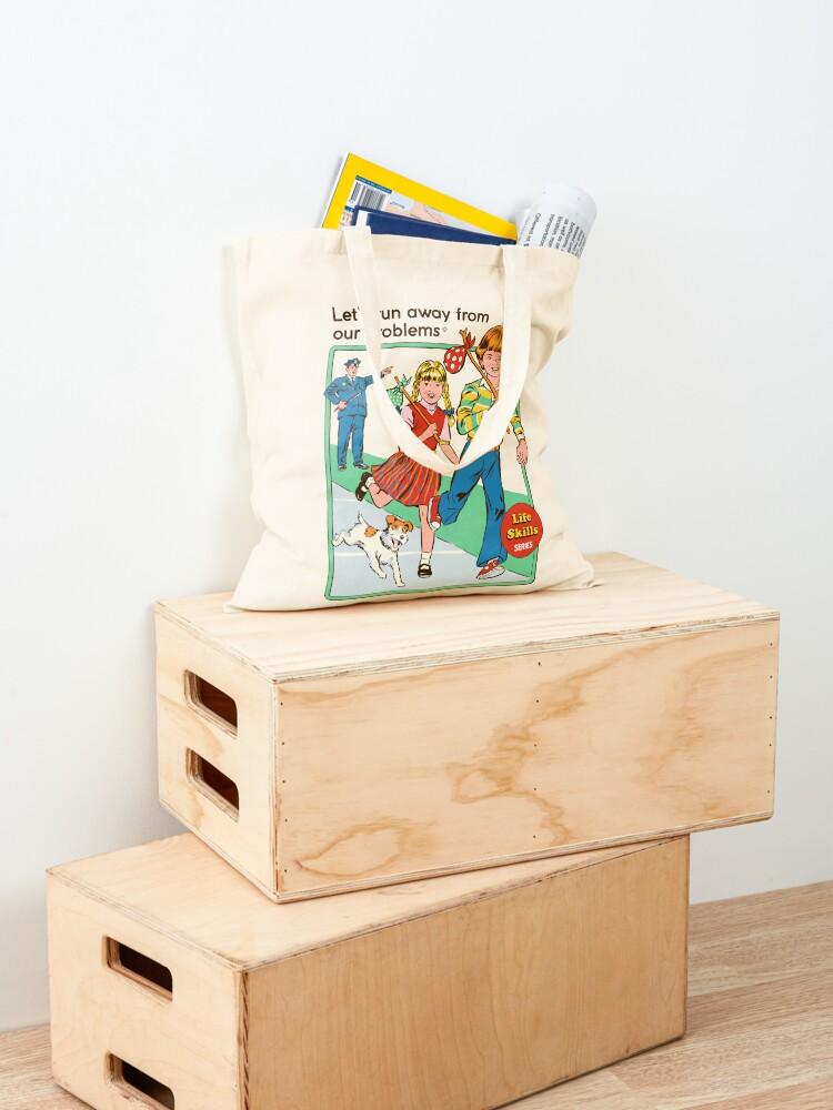 Alternate view of Let's Run Away Tote Bag