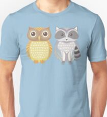 Owl & Raccoon Unisex T-Shirt