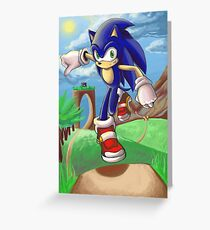 Sonic the Hedgehog - Introduction Greeting Card