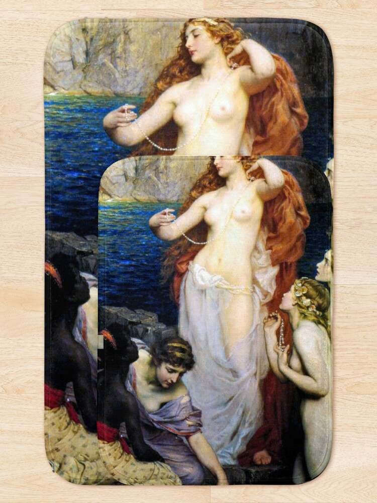 Alternate view of The Pearls Of Aphrodite – (Herbert James Draper)  Герберт Дрейпер - Жемчуг Афродиты Bath Mat