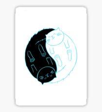 Ying Yang Cats Sticker