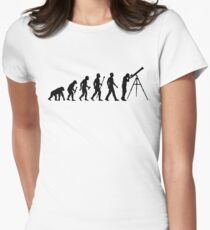 Funny Evolution of Astronomy Women's Fitted T-Shirt
