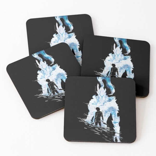 Sung Jin-Woo Shadow Generals - Solo Leveling  Coasters (Set of 4)