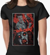 evil dead art #1 Women's Fitted T-Shirt