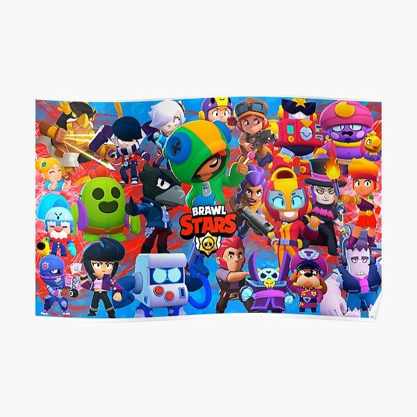 Leon & Friends BRAWL STARS Jigsaw Puzzles canvas & Blankets Duvets - BrawlStarsPrime Poster