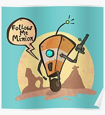 Follow me minion Poster