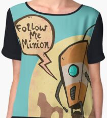 Follow me minion Women's Chiffon Top