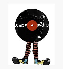Funny Vinyl Records Lover - Grunge Vinyl Record Photographic Print